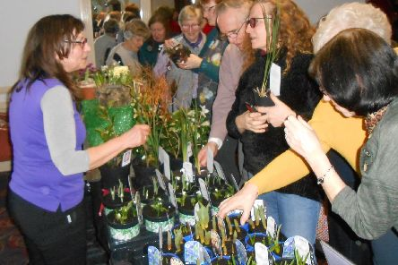 So Plants proprietor Michelle Unsworth, pictured left, after giving a talk to Garstang Gardening Club members