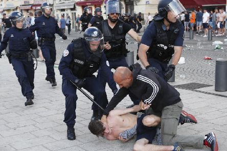 Violence in Marseille, France, during Euro 2016