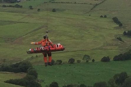 A woman was airlifted to hospital after she was seriously injured in a paragliding accident on the Bowland Fells