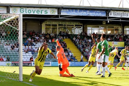 Kurt Willoughby scored his first Fylde goals at Yeovil