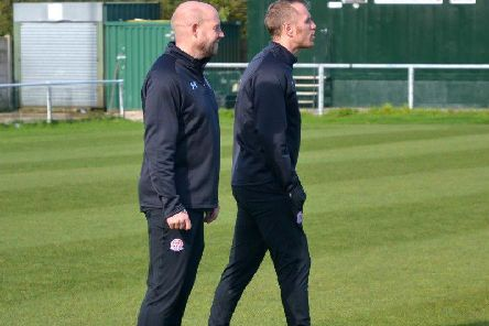 John Hills (left) and Brett Ormerod are taking temporary charge of the Coasters Picture: AFC FYLDE