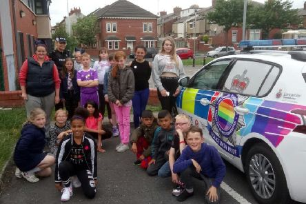 Police have been working with children to spread the message on hate crime