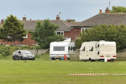 Travellers previously at the Blackpool Road playing fields