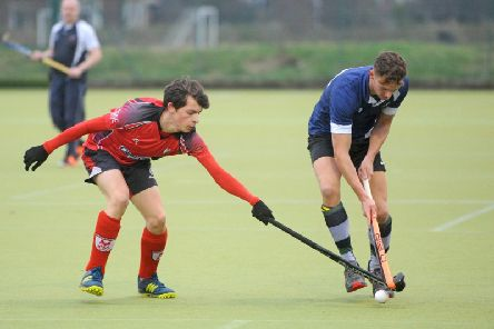 Myles Child in action for Lytham St Annes 2 against Leyland Picture: DANIEL MARTINO