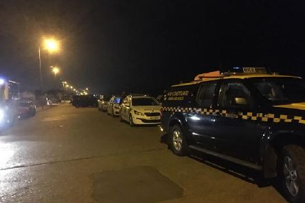 Fleewtood Coastguard take part in a rescue from the water in Cleveleys on Saturday night