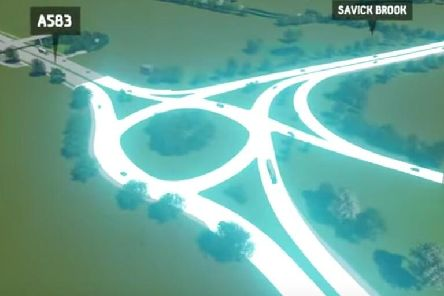Computer image of new link road