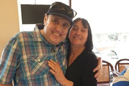 Comedian Peter Kay with Renee Hickson at Bispham Kitchen, Red Bank Road, Bispham, on Monday, April 22, 2019