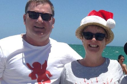 Dr Sally Bradley, right, with her husband Bill Harrop (Picture: Sally Harrop/Facebook)