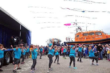Zumba dancers and kites flying at the St Annes RNLI open day