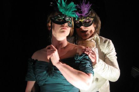Sarah Wynne Kordas and John Goodrum in The Masque of The Red Death.