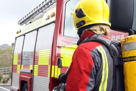 Firefighters attended a road traffc collision durng a snow storm on the M1