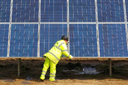 An example of the kind of solar farm found in the Derbyshire Dales.