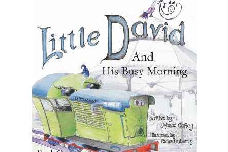 Little David, the train in Matlock's Hall Leys Park, is to star in a new series of children's books by debut author Alison Coffey and illustrator Claire Duberry.