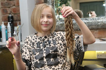 Ruby Cattinni donating her hair for the second time