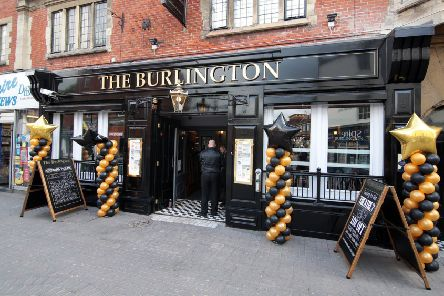 The Burlington pub, off Burlington Street, in Chesterfield town centre.