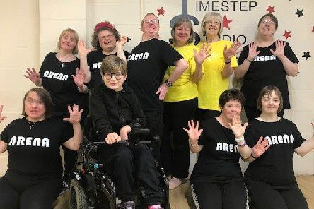 Some of the dancers who take part in the Time Step Community Dance sessions.