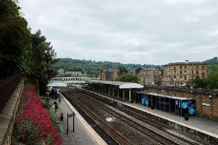 The woman had jumped onto the tracks from the platform at Dewsbury Station
