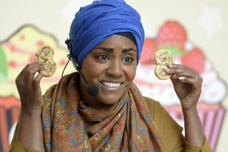 Bake off winner and celebrity chef Nadiya Hussain. Picture by Bruce Rollinson.