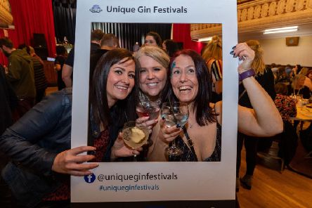Gin lovers, Nicola Thompson, Jenny Nixon, and Trudie Silson, having fun at the event.