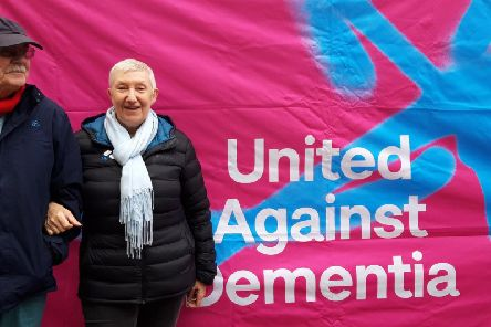 Jan and Liam Archbold who will be taking part in the Wakefield Dementia Action Week Walk on May 19.