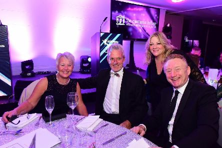 From right, George Brittain, pictured with Joy Yates, former Durham and England cricketer Geoff Cook and his wife Judith at the recent Best of South Tyneside Awards.