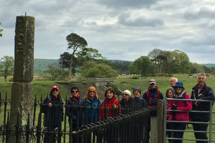 Members of Morpeth Footpaths Society on their recent walk.