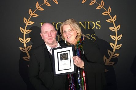 Stephen and Victoria Bones, of The Pie & Bottle Shop, celebrate winning the Best Food Business for the North East region at England's Business AWards.