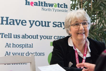 Healthwatch trustee Judy Scott wants to hear what residents have to say.