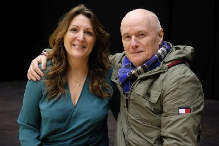 Dave Johns with The Exchange's artistic director Karen Knox. Picture by RusbyMedia.