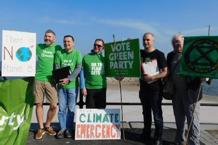 North Tyneside Borough Green Party members launch their Climate Emergency North Tyneside petition.