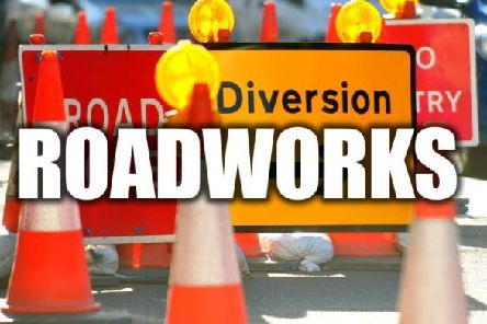 Planned roadworks next week.