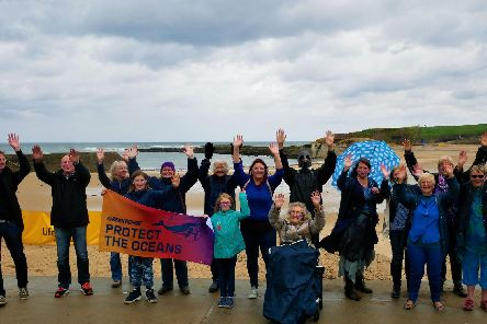 Greenpeace volunteers and residents took their fight to protect the worlds oceans to Cullercoats.