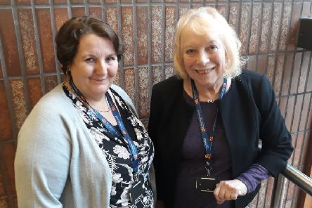 Linda Ait Mohammed Ou Lahcen and Northumberland County Councillor Veronica Jones, cabinet member for Adult Wellbeing and Health.
