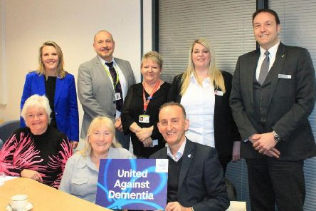 Members of the Cramlington dementia group (back row) Fiona Johnston, Bruno Coppola, Helen Williams, Amy O'Connor, Graham Rodgers,  (front) Loraine De Simone, Pat Hall and Guy Kirk.