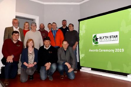 Pictured are staff from Blyth Star Enterprises, Stakeford Nurseries and The Woodfuel Centre.
