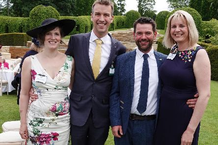 Clair and Nick Lewis with Michael and Holly Stafford, all from Alnwick Round Table.'Picture by Jane Coltman