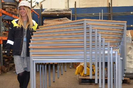 Janet Mole of Lynemouth Power Station, which is looking to donate office furniture to worthy causes.