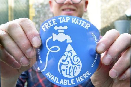 Businesses are being encouraged to sign up to the Refill scheme to help reduce plastic litter.