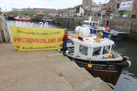 Northumberland Day organisers have been raising awareness and stirring up local pride, including at Seahouses harbour.