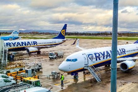 Ryanair aeroplanes on the tarmac