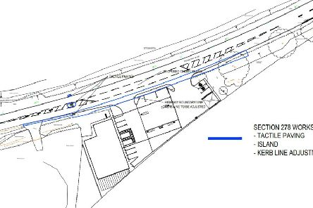 Plans for a filling station at Wetherby. Drawing by Walker Design.