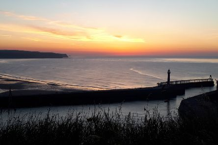 Whitby sunset in June, by Duncan Atkins.