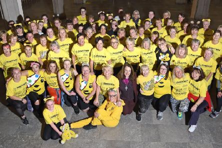 Zumba enthusiasts from all over Lancashire filled Blackburn Cathedral for a two-hour charity Zumbathon in aid of Children in Need.