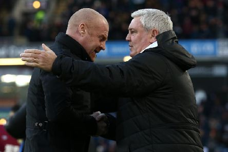 Burnley boss Sean Dyche and Newcastle United manager Steve Bruce