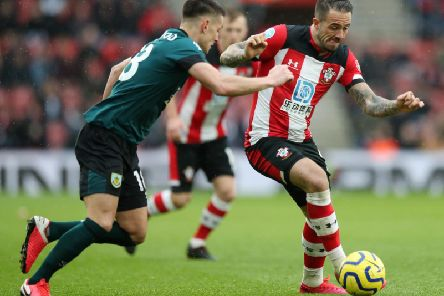 Burnley's Ashley Westwood and former Clarets striker Danny Ings at St Mary's