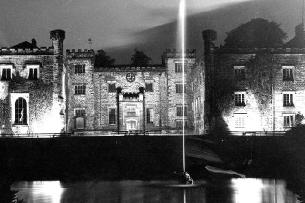 Towneley Hall lit up in 1961