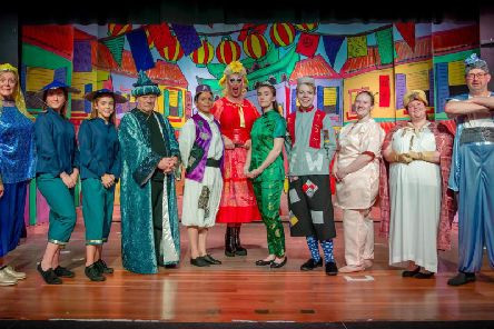 Some of the cast members from Sion Pantomime Society's show Aladdin