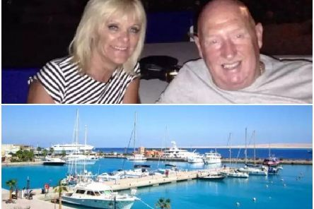 Pictured top, John and Susan Cooper who died in Egypt, pictured bottom, the Egyptian resort of Hurghada where a Burnley couple died this week.