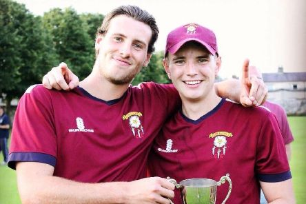Barnoldswick captain Jonathan Beech (right) with Paddy Turner