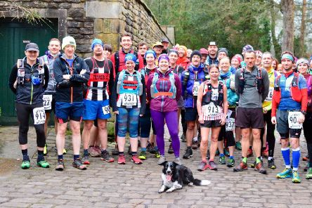 Runners prepare for the inaugural Pendle Way In A Day Ultra Marathon on Sunday. Photo: David Belshaw